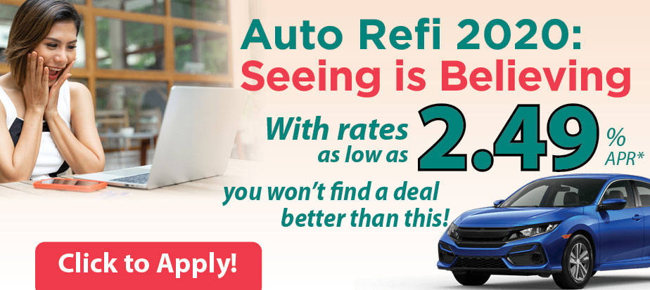 Auto refi 2020. Rates as low as 2.49 percent